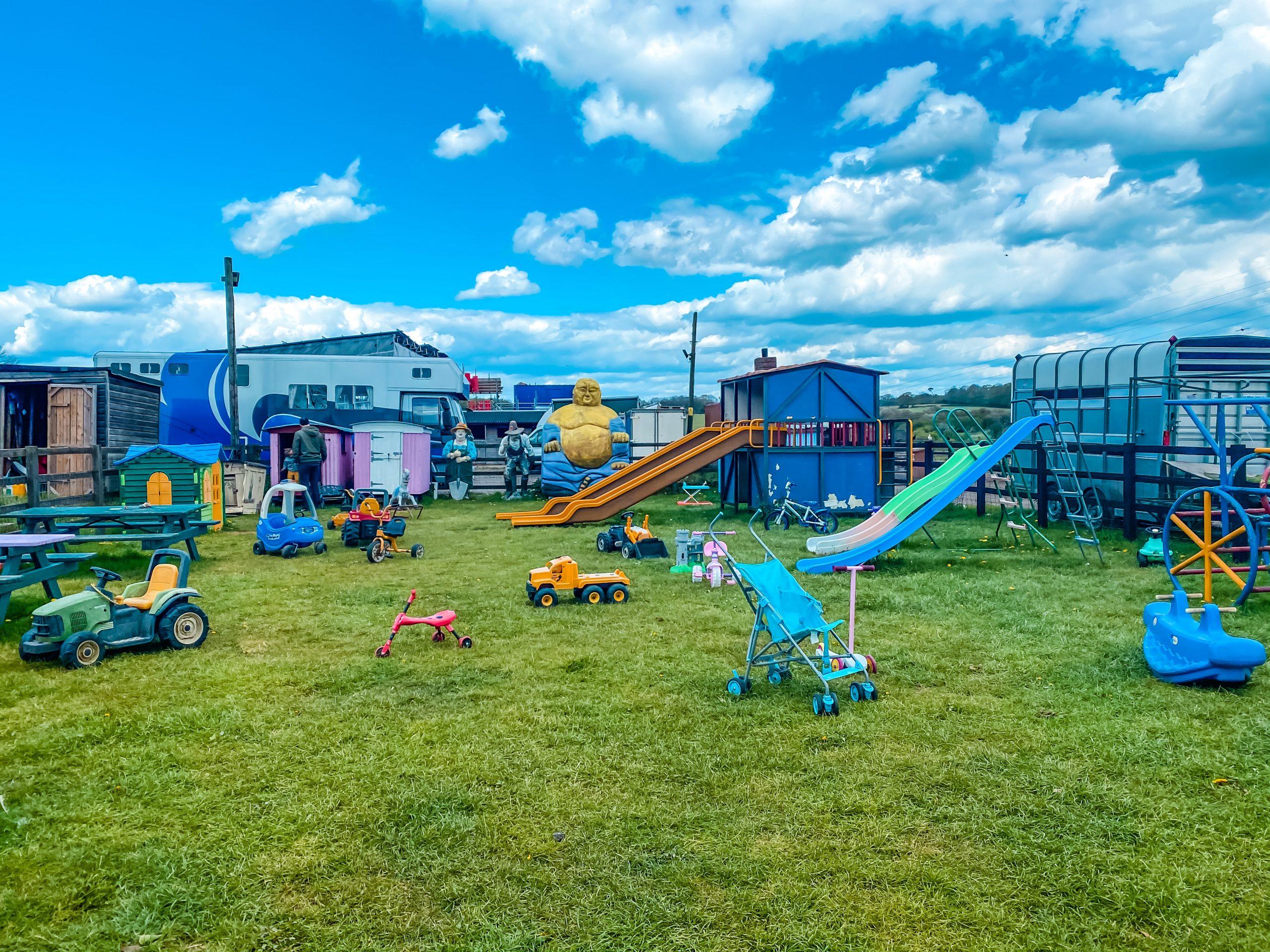 Play area at Nathan's Farm