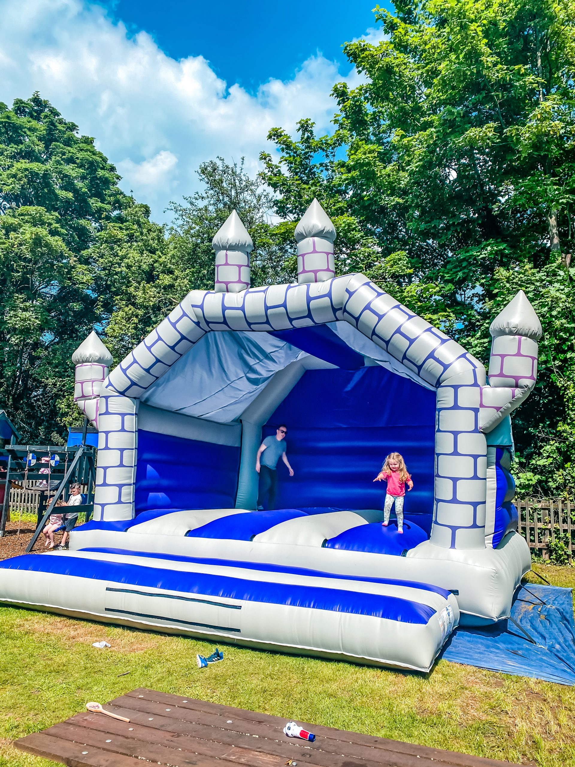 Bouncy castle at The Boot at Sarratt