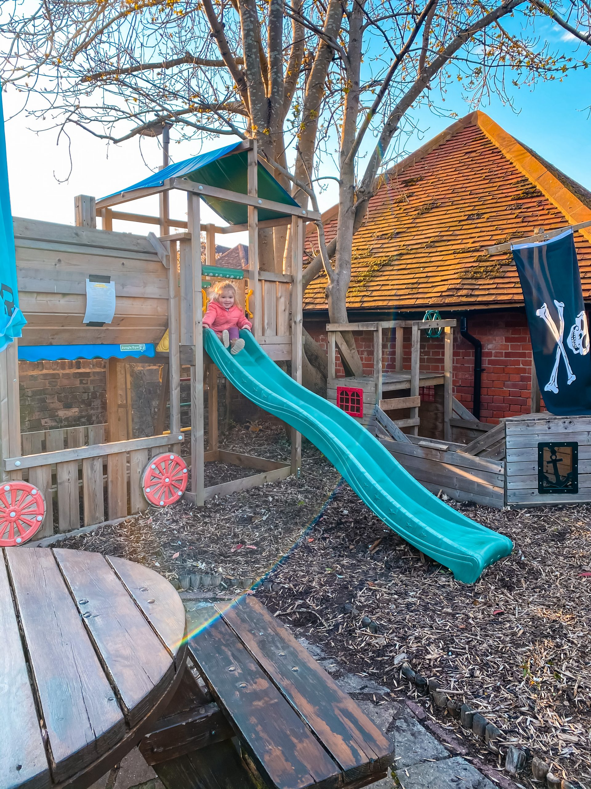 Play area at The Swan in Beaconsfield